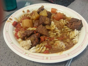 תבשיל ירקות ובשר בתיבול חווייאג'